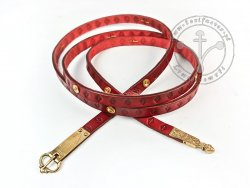 017N Medieval belt with mounts for 13-14 cent.