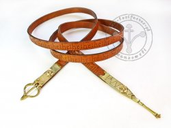 020N Belt with stamped decoration