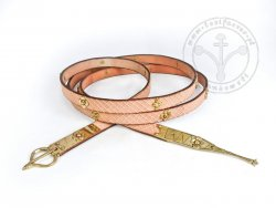 026N Belt with stamped decoration with mounts