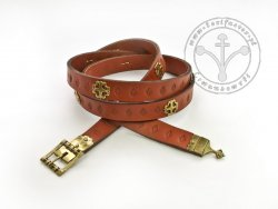 034N Medieval belt for 15th century - with openwork buckle