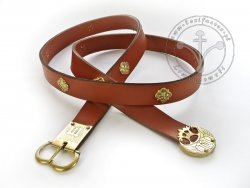 047N Medieval belt for 14th - 15th cent. - for Houppelande dress