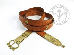 079N Medieval belt with mounts for 13th cent.