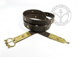 080N Medieval belt with mounts for 13th cent.
