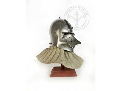 "AH-04C Medieval helmet - ""Hundsgugel"" bascinet - with lining - ready to battle - 57-59 cm"