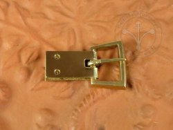 B-110P Trapezoidal armour buckle - with buckle plate