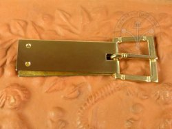 B-114P Belt or armour buckle from Wroclaw - with buckle plate