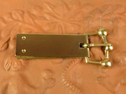 B-103P Trapezoidal belt buckle - with buckle plate