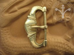 B-260 A kidney shaped belt buckle