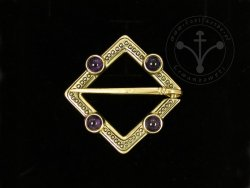 BR-12B Brooch with amethysts