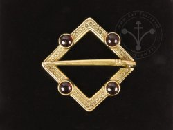 BR-12E Brooch with garnets