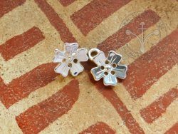 BR-50S Clothes fastener - Flower - Silvered