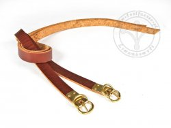 G-015-P Leather garters - plain