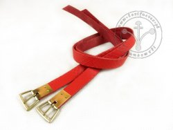 G-106.07 Leather garters with stamped decoration