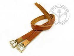 G-106-S Leather garters - stamped