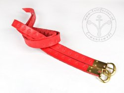 G-135.03M Leather garters with stamped decoration