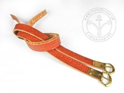 G-135.05M Leather garters with stamped decoration