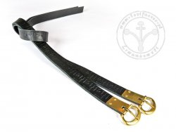 G-135.09M Leather garters with stamped decoration