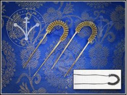 HP-01 U-shaped hairpin with twisted wire decoration