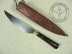 KS-009 Medieval knife with horn handle