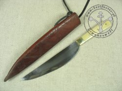 KS-010 Medieval knife with bone handle