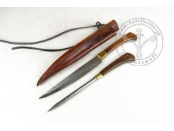 KS-025B Big medieval knife with spike - wood handles