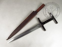 "KS-030B Medieval dagger ""Baselard"" with horn handle"