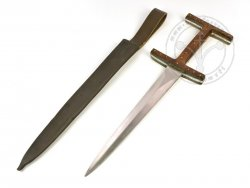 "KS-030C Medieval dagger ""Baselard"" with wooden handle"