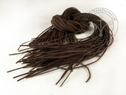 R-82 Leather strap - thin - very dark brown