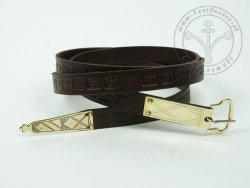 000BF12 Medieval belt with stamped decoration