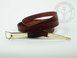 000BF14 Medieval belt with stamped decoration