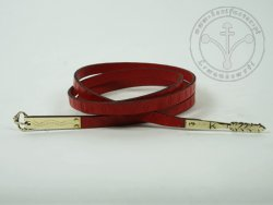 000BF02 Medieval belt with stamped decoration