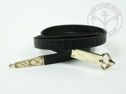 000BF23 Medieval belt with stamped decoration