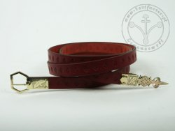 000BF07 Medieval belt with stamped decoration