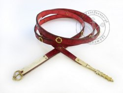 008N Medieval stamped belt with mounts