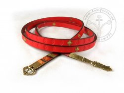 039C Medieval belt - with mounts