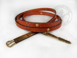 047C Medieval belt - with mounts
