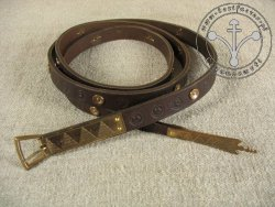 173C Medieval  belt with mounts