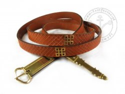 210C Medieval plain belt with mounts