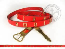 212AM Medieval belt with inscription - for 15th century