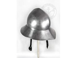 AH-03BS Kettle hat with lining 14-15th cent.- ready to battle  57 cm - ON STOCK