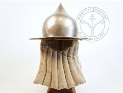 AH-04CS.18 Kettle hat - onion shape - 14-15th cent. - with lining - 61-62cm - ON STOCK
