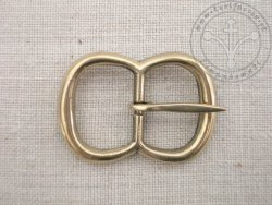 B-044 Solid double loop buckle for belts or armour