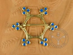 "BR-05E Brooch - ""Star""BLUE ENAMELED"