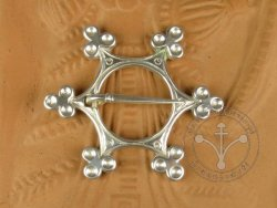 "BR-05S Brooch - ""Star"" SILVER-PLATED"