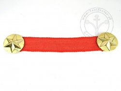 BR-24 Cloak fastener with linen ribbon