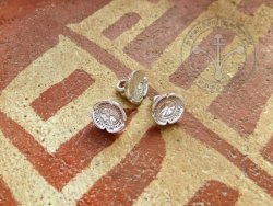 BT-10S Button - flower - Silvered