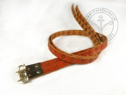 G-014-S Leather garters - stamped
