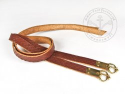 G-016-S Leather garters - stamped