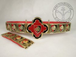 "KB 002 Knight girdle with heraldic motif - ""Boar""- enameled"