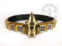 KB 036 Knight Belt with Tower - Enameled